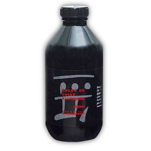 Sennelier Black China Ink 1 Liter Bottle by Sennelier