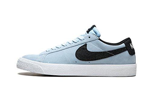 (Nike Men's SB Blazer Zoom Low Hydrogen Blue/Black White Skate Shoe 8.5 Men)