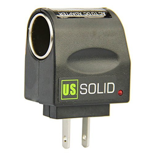 AC 110V to DC 12V Wall Plug-In Converter/ Adapter from U.S. Solid Cable Car Ac Wall