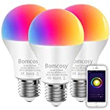 Smart Bulb Wifi Led Bulb E26 A19 7W 600LM Multicolored RGB CCT Smart Light Bulb Works with Amazon Alexa and Google Home No Hub Required 60W Equivalent 3 Pack