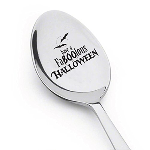 Halloween Spoon - Stamped Spoon - Engraved Gift - Gift For Halloween Party - Funny Gift - Children's Gift (FABULOUS (Funny Halloween Party Names)