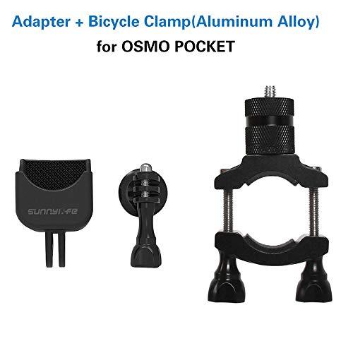 -  Orcbee  _for DJI OSMO Pocket Gimbal Handle Bicycle Holder Bracket Clamp Clip Bike Mount Black