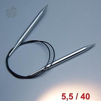 Stricknadeln Lana Grossa Rundstricknadel messing Stärke 8,0-15,0 mm