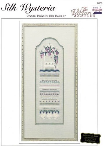 Victoria Sampler - The Victoria Sampler Silk Wisteria Cross Stitch Pattern Chart