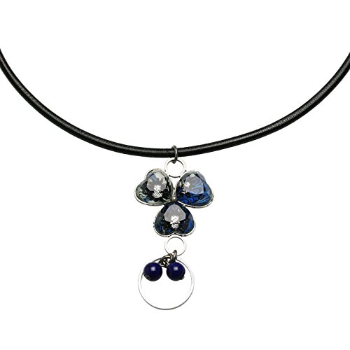 Tamarusan Glasses Holder Lapis Lazuli Violet Strap Blue Marble by TAMARUSAN