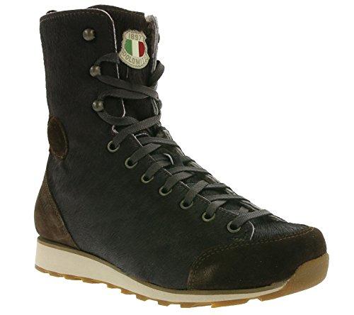 DOLOMITE Sneaker Cinquantaq UATTRO Cow High WS, Unisex Adulto, Marrone Scuro
