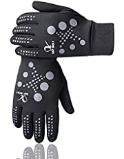 day wolf Running Gloves Lightweight Warm Mittens Best Elasticity Fit Liners Women Men Touch Screen Cycling Bike Breathable Water Resistant Hiking Camping Indoor and Outdoor