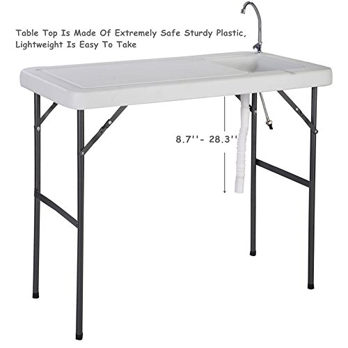 Folding Portable Fish Hunting Cleaning Cutting Table Camping Sink Faucet TKT-11 by TKT-11 (Image #1)
