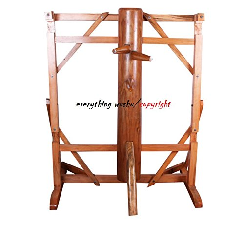 everythingwushu Solid Elm Free-standing Wing Chun Kung Fu Wooden Dummy Master Use Sifu Collection