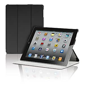 The New iPad 2nd 3rd 4th Generation Magnetic Smart Cover Portfolio Case by Photive With Built-In Stand - Front Back Protection Designed for 3rd 4th Generation iPad (Latest Version With Built-In Magnet for Sleep/Wake Feature) - Black