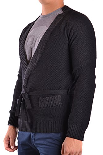 Galliano Herren MCBI130096O Schwarz Wolle Strickjacke