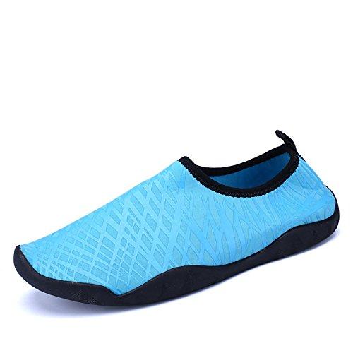 al rápido de calzado de snorkeling antideslizante Color playa Lucdespo zapatos calzado pegada secado piel luz de Piscina aire libre de buceo azul natación seguridad qxw1H5