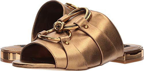 Donna Karan Women's Rae Slide Antique Gold Metallic Nappa 6 M US M