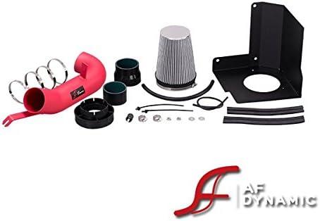 Black Red Heat Shield Cold Air intake Kit For 2008 GMC Sierra Denali 6.2L V8