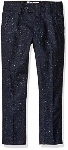 Isaac Mizrahi Boys' Little Boys' Tweed Wool Blend Dress Pants, Navy, 6 (Blue Tweed Wool)