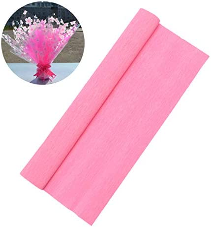 HEALLILY 5ロールキッズクレープ紙ストリーマーdiy波状紙の花用クラフト誕生日結婚式祭りパーティーバレンタインデー装飾