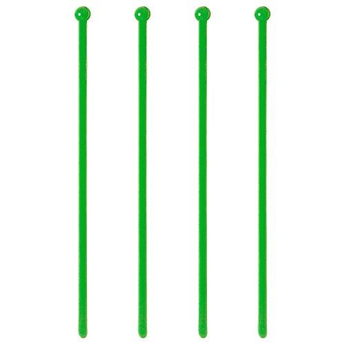 Green Swizzle Sticks, 50 Plastic Cocktail & Beverage Stirrers, 6