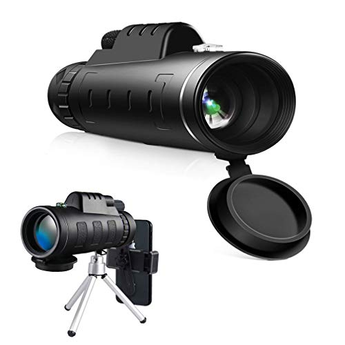Monocular Telescope, 40×60 High Power & HD Monocular Scope Phone Lens with Dual Focus Optics Scope, Waterproof Scope, BAK4 Prism FMC for Bird Watching, Hunting, Camping, Hiking