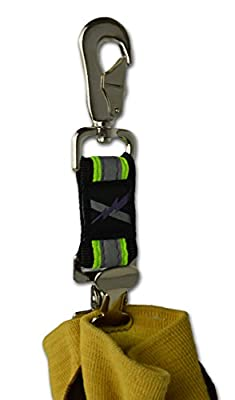 Lightning X Reflective Firefighter Rescue Extrication Work Glove Strap w/ Alligator Clip