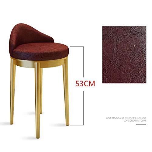 53CM titanium feet Modern Minimalist Jewelry Shop Chair Nordic Counter Chair high Stool bar Stool Home Front Desk Cashier Reception Chair (color   53CM Titanium feet)