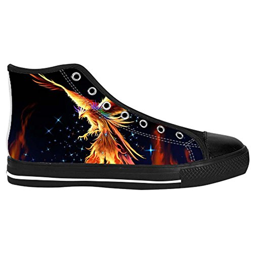 Dalliy Fire phoenix Mens Canvas shoes Schuhe Lace-up High-top Sneakers Segeltuchschuhe Leinwand-Schuh-Turnschuhe E
