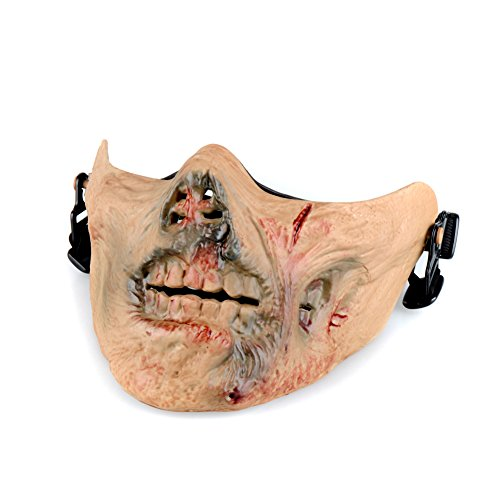 OFTEN Airsoft Protection Half Face Mask Zombie Evil