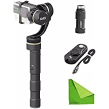 EACHSHOT Feiyu FY-G4S 4 Modes 360 Degree Moving 3-Axis Handheld Steady Gimbal for GoPro Hero 3 3+ 4 Feiyu G4 update version With Wired Remote Control + Battery Extender + EACHSHOT Cleaning Cloth