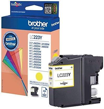 Brother LC223Y - Cartucho de tinta, color amarillo: Amazon.es ...