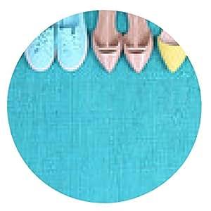 my-puzzle-design alfombrilla de ratón Zapatos de última moda en la alfombra azul - ronda - 20cm