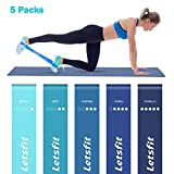 Cheap Letsfit Resistance Loop Bands, Mini Exercise Loops Resistance Bands, Set of 5 Latex Gym Fitness Training Bands Home Fitness, Stretching, Pilates, Yoga, Rehab, Physical Therapy More
