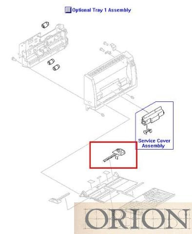 HP RB2-6541-000CN Rivets - Paper size guide for MP/Tray 1 ()