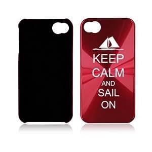 Rose Red Apple iPhone 4 4S 4G A2007 Aluminum Hard Back Case Keep Calm and Sail On wangjiang maoyi
