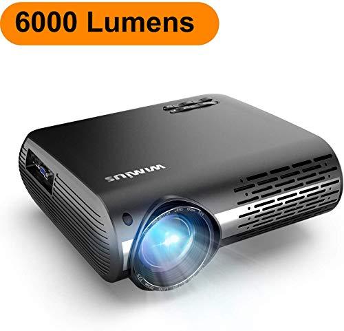 Proyector, WiMiUS 6000 Lúmenes Proyector Full HD 1920x1080P Nativo ...