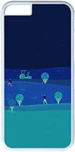 Abstract Blue Diet Paint Illust Art Apple iPhone 6 Plus Case, iPhone 6 Plus (5.5 inch) Hard Shell White Cover Cases by iCustomonline