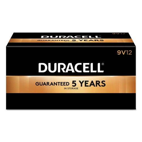 Duracell CopperTop Alkaline Batteries with Duralock Power Preserve Technology, 9V, 12/Pk by Duracell