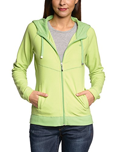 Champion Kapuzenjacke Hooded Full Zip Top - Chaqueta técnica para mujer, color verde, talla L verde