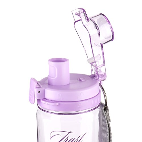 """""""Trust in the Lord"""" Purple Plastic Water Bottle – Proverbs 3:5-6"""