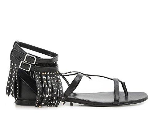 Saint Laurent Women's 416400B34001000 Black Leather Sandals fYggoOMy