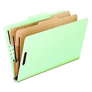 Pendaflex Pressboard Classification Folders, 2 Divider, Letter size, Corona Green, 10 per Box (17173EE)