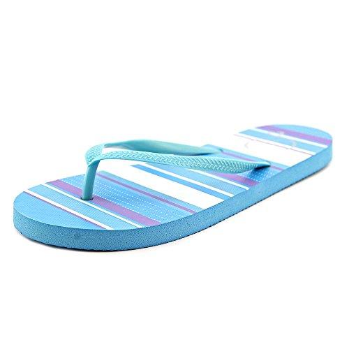 143 Girl Zada Flip Flops Sandals Blue Stripe Size 7