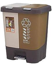 Strange Shape Of Trash Can Trash can Foot Pedal Trash Can Removable Classified with Lid Trash Bin Living Room Bathroom Kitchen Waste Recycle Bin brown 20L Trash Bin Garbage Storage