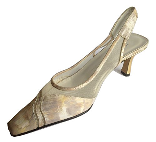 ULTIMATE COLLECTION - Zapatos con tacón mujer, color beige, talla 40 EU