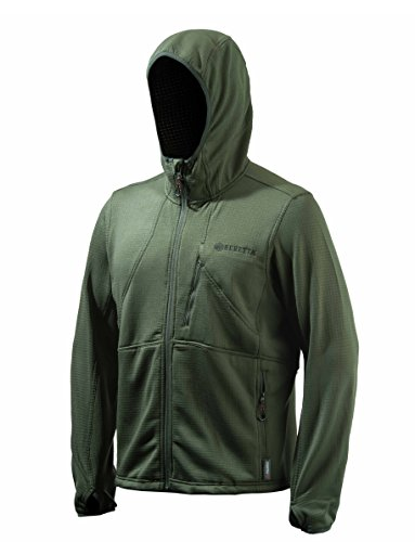 (Beretta Performance Hoody Fleece Jacket, Green, XX-Large)