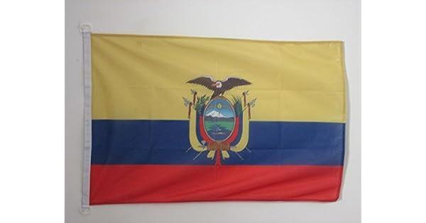 Amazon.com: AZ FLAG Ecuador Bandera 2 x 3 al aire libre ...