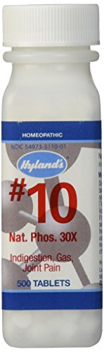 Hyland's Cell Salts #10 Natrum Phosphoricum 30X Tablets, Natural Homeopathic Indigestion, Gas and Joint Pain Relief, 500 Count