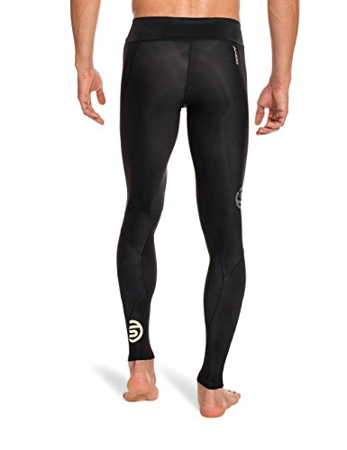 Skins Men's A400 Compression Long Tights, Black/Gold, XX-Large by Skins (Image #2)