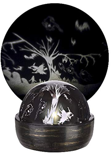 Gemmy Lightshow LED Rotating Halloween Shadow Projection Light with Witches, Ghosts, Pumpkins and More! (1)]()