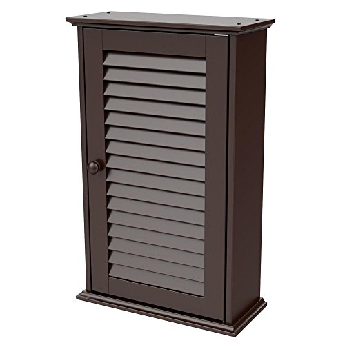 Topeakmart Bathroom/Kitchen Wall Mounted Single Louvered Doo