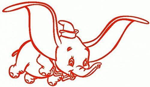 Dumbo-Pegatinas Prespaziato-20-cm color rojo: Amazon.es: Coche y moto