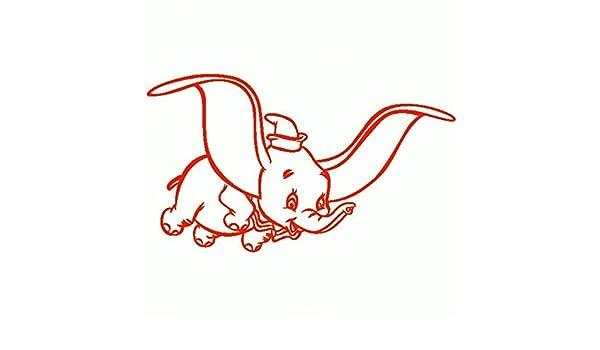 Dumbo-Pegatinas Prespaziato-15 cm-color rojo: Amazon.es: Coche y moto